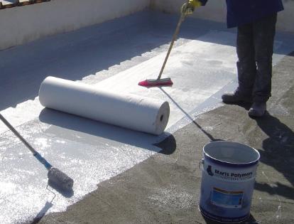 Выполнение гидроизоляции крыши
